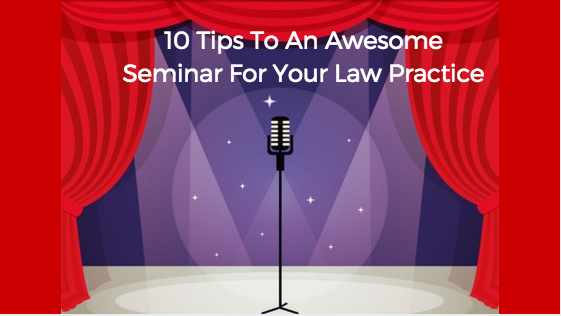 Seminar Planning for Your Law Frim