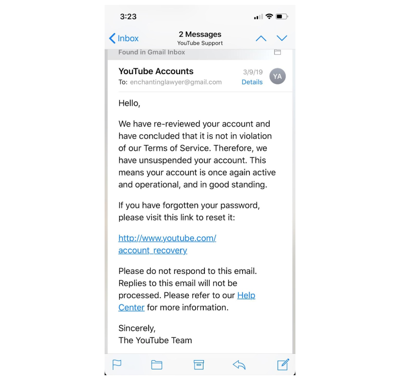 How To Unlock Your YouTube Account When Your Channel Gets